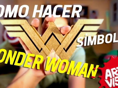 ARTE VISUAL - WONDER WOMAN COMO HACER SÍMBOLO #AbrilVideosMil DIY #DCComics #JUSTICELEAGUE