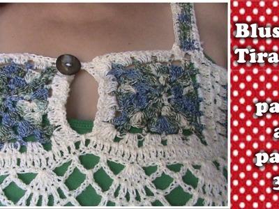 BLUSA 2XL en crochet FACIL DE HACER  3 DE 3