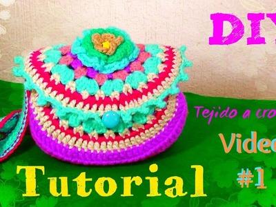 Bolsa  en Granny Circular - Tejida a Crochet!!! VIDEO #1