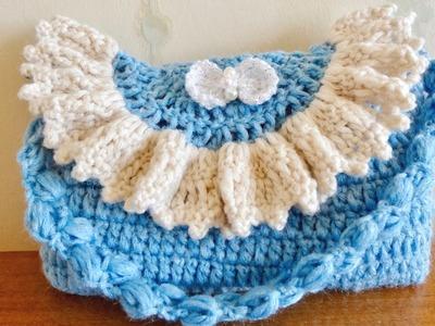 Bolso ó cartera para niñas, a crochet, paso a paso