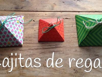 Cajas de regalo originales piramide | Manualidades para el día de la madre