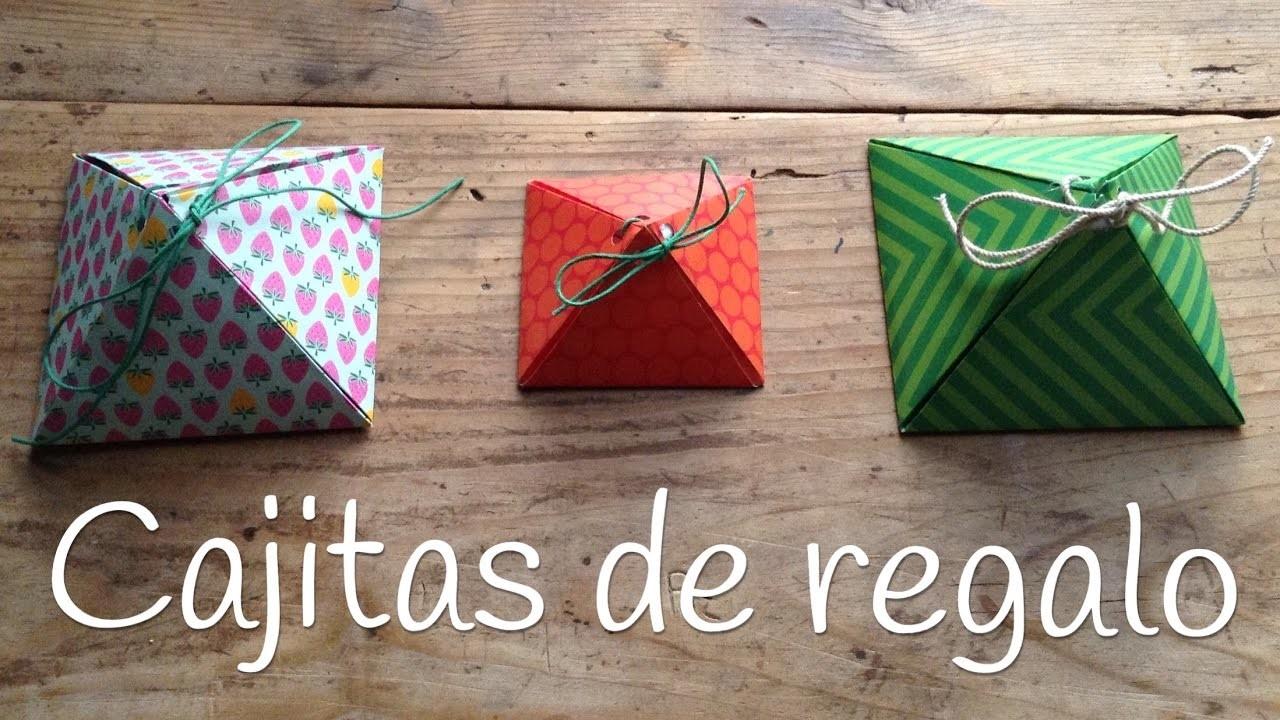 Cajas de regalo originales piramide manualidades para el for Regalos originales de manualidades