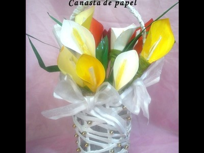 Canasta de papel. DIY. Basket made of paper