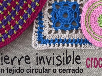 Cierre invisible en tejido a crochet circular o cerrado. Tejiendo Perú