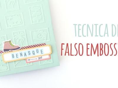 Cómo hacer falso embossing - TUTORIAL Scrapbook