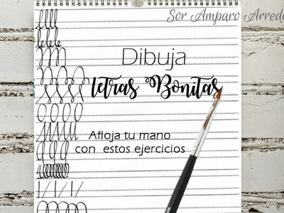 Como DIBUJAR letras bonitas, LETTERING - afloja la mano scrapbook DIY