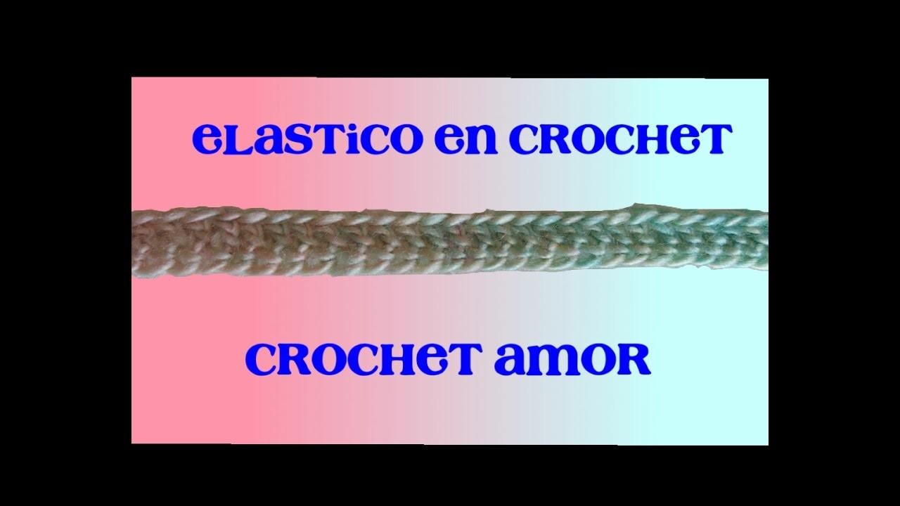 Como hacer Resorte en crochet sin cadena de inicio - elástico fácil y rápido