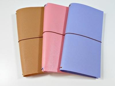 Cómo hacer un Traveler's Notebook o Midori DIY   Scrapbooking