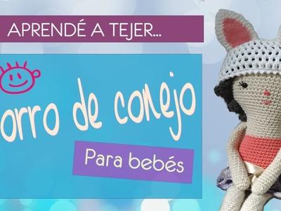Cómo tejer a crochet un gorro de conejo para bebé | Easter hat for babies