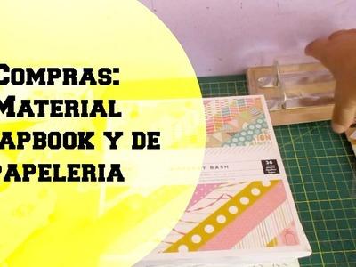 Compras material scrapbook y de papelerias.Haul scrapbook.Cristina Su -Perú