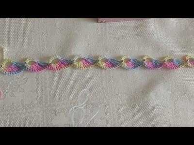 Cordón en crochet (tiara, vincha, gargantilla, pulsera, diadema). Point lace fantasy (headband)