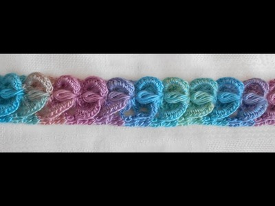 Crochet Tiara, en Crochet 3D diadema, cordon, vincha, banda, punto fantasia, paso a paso