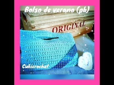 Cuki Bolso de verano a Crochet. ganchillo para diestros