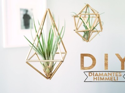 Diamantes Himmeli de color dorado para colgar | DIY Westwing