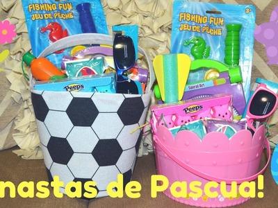 DIY CANASTAS DE PASCUA! DOLLAR TREE! LINDAS Y ECONOMICAS!