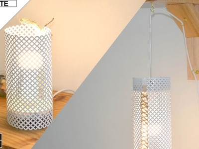 DIY Como hacer Lampara colgante 2 en 1 (How to make a Hanging lamp)