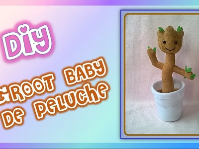 make diy c mo hacer un peluche de groot beb how to make baby groot plushie spanish. Black Bedroom Furniture Sets. Home Design Ideas
