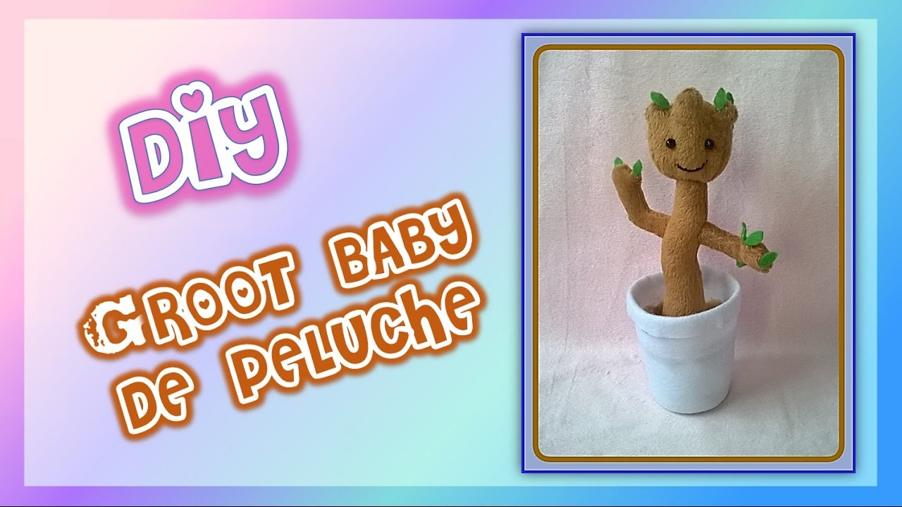diy c mo hacer un peluche de groot beb how to make baby groot plushie my crafts and diy. Black Bedroom Furniture Sets. Home Design Ideas
