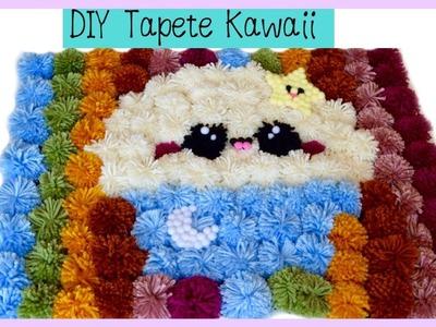 DIY COMO HACER UN TAPETE DE POMPONES KAWAII. HOW TO MAKE A KAWAII POMPOM CARPET