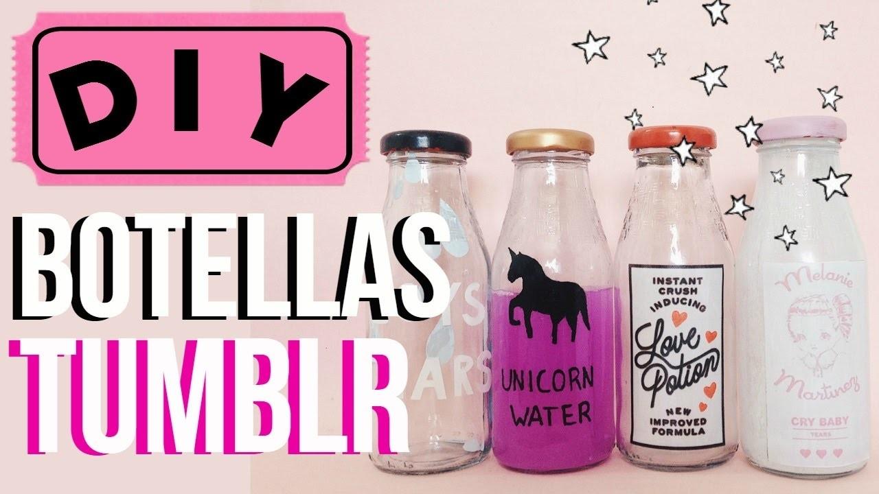 Diy decora tu cuarto con estas botellas tumblr - Cosas para decorar tu habitacion ...