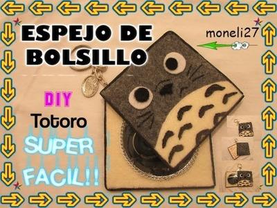 """DIY ESPEJO PARA BOLSO  TOTORO"". SUPER FACIL!!"