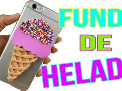 DIY Fundas.Cover para Celular de Helado | Manualidades con Foamy