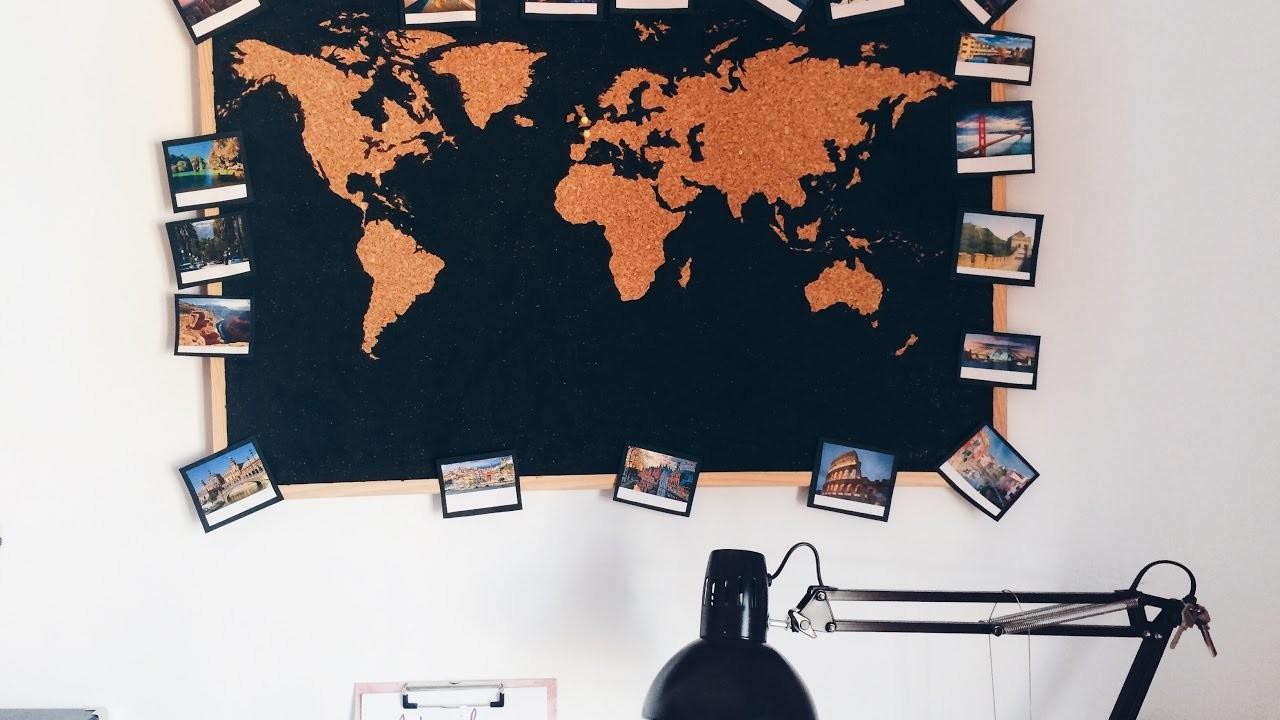 DIY MAPA DE CORCHO muy fácil||ROOM DECOR|| Sweet Closet