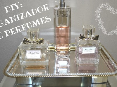 DIY: ORGANIZADOR DE PERFUMES! DECORACION SOLO $2! DOLLAR TREE!