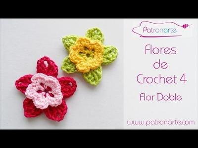 Flor de Crochet Doble