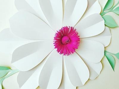 FLOR GIGANTE DE PAPEL | FLORES DE PAPEL | MOLDES GRATIS |MANUALIDADES |GIANT PAPER FLOWER