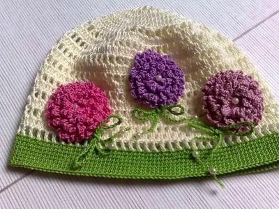 Gorro para niños tejido a Crochet Ganchillo