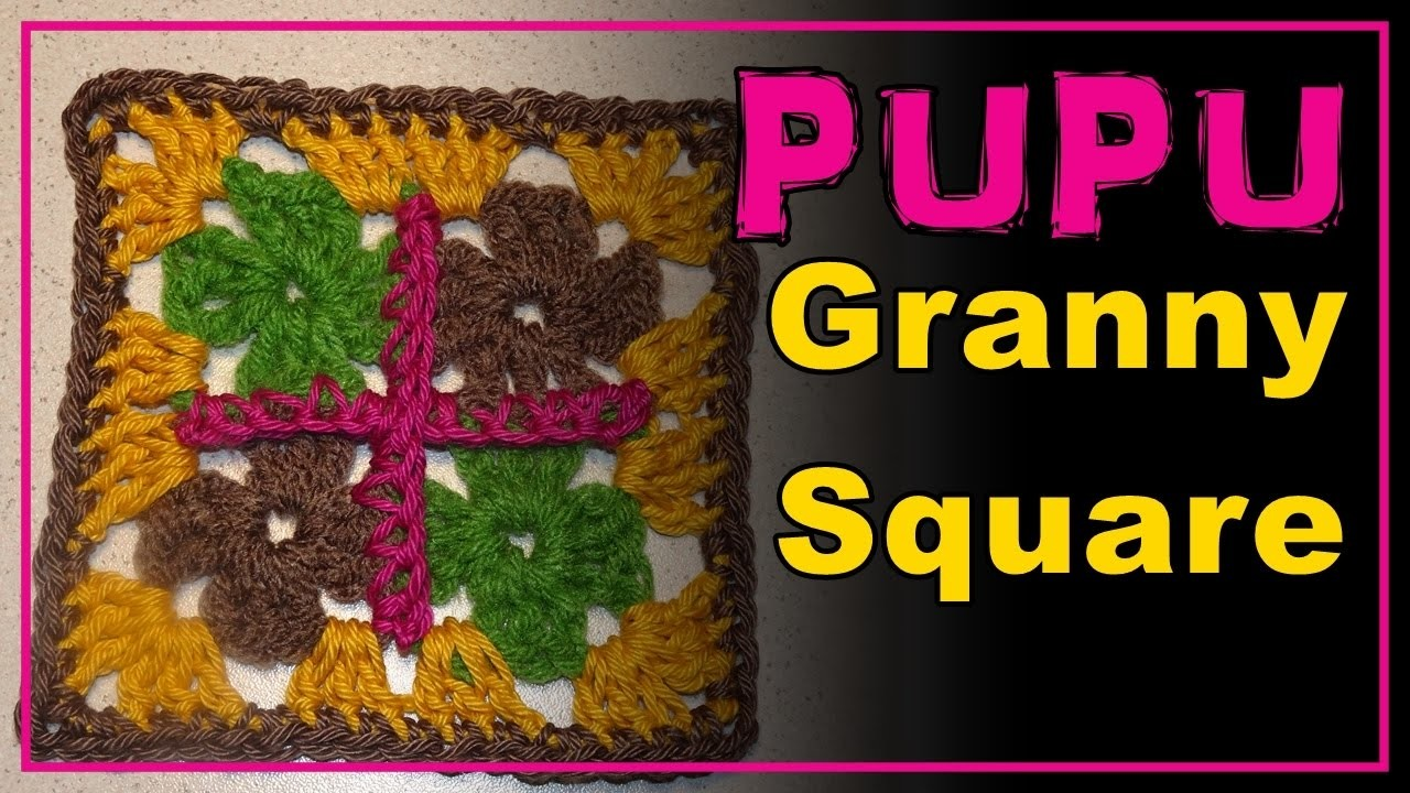 granny square pupu aprende cuadradito a crochet pattern h keln muster lana wolle. Black Bedroom Furniture Sets. Home Design Ideas