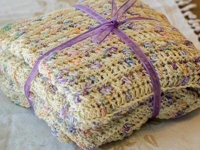 Manta o colcha para bebitos tejida a crochet 01