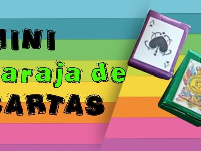 ❤️ ♥️♠️ Mini baraja de Cartas Española.Poker ★ DIY - Manualidades ♣️♦️ ❤️