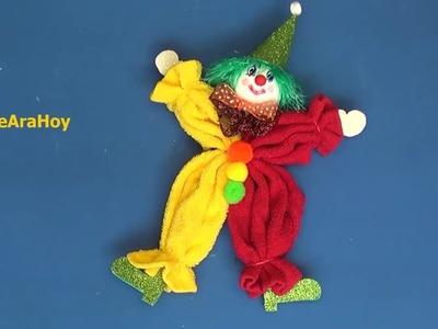 Payaso de toalla DIY  Día del niño