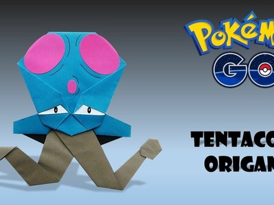 POKEMON - Origami TENTACOOL Tutorial how to make pokemon orgami tentacool origami pokemon tentacool