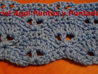Puntada a crochet muy sencilla y fácil. Muestra No. 133