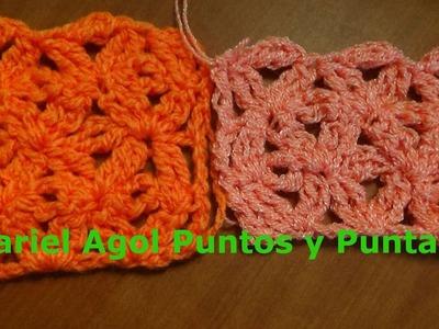 Puntada sencilla y linda a crochet. Muestra No. 132
