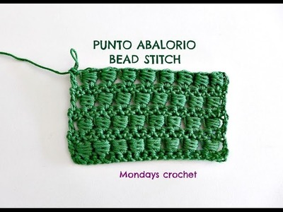 Punto Abalorio de crochet. Bead stitch