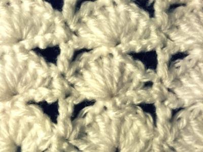 "Punto ""abanico lineal"" (ganchillo. crochet)"