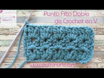 Punto Alto Doble de Crochet en V