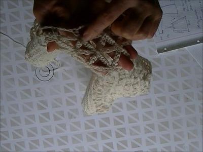 Punto FLOR DE LA VIDA crochet manga para chaleco