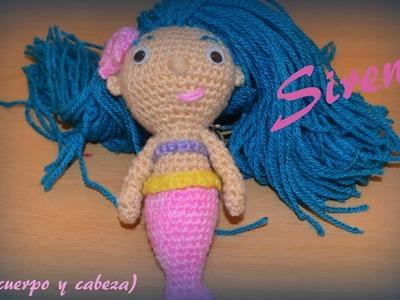 Sirena (cabeza y cuerpo) || Crochet o ganchillo.
