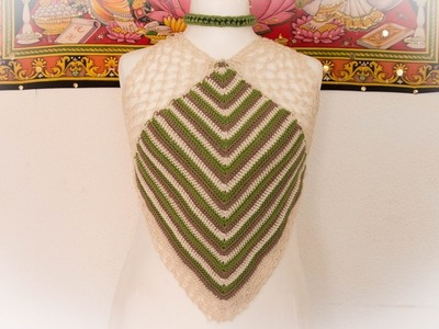Top de colores a crochet.