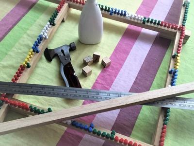 Tutorial how to make adjustable weaving frame loom DIY. Cómo hacer un telar cuadrado ajustable