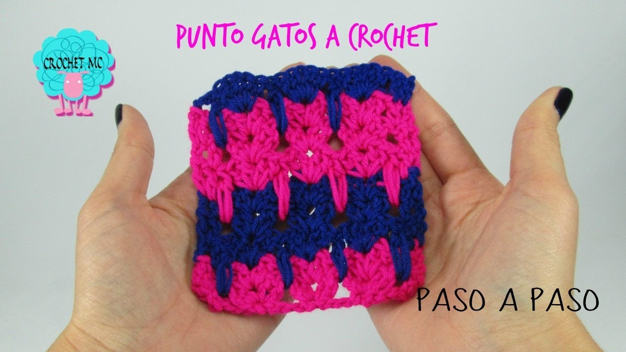 Tutorial punto gatos a crochet
