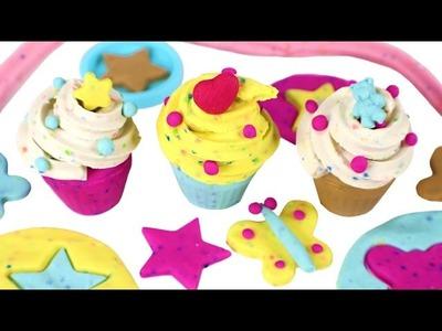 Cómo hacer Cupcakes de Plastilina con Play-Doh Confetti ????❤️ Manualidades de Plasilina para niños