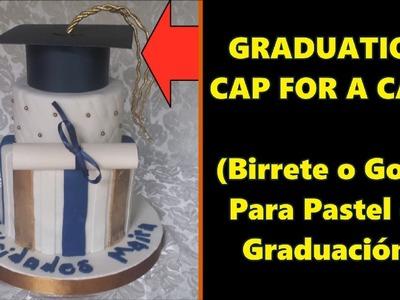 Cómo Hacer un Gorro de Graduación para Pastel de Grado || DIY Graduation Cap for a Graduation Cake