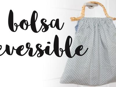 Cómo hacer una bolsa de tela reversible | Fabric bag DIY | Idea regalo día de la madre