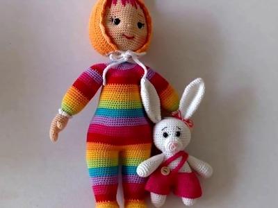 Como tejer juguete de Muñeca Daniela amigurumi By Petus (2.2)